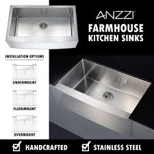 Kitchen Sink And Faucet Sets by Anzzi Elysian Farmhouse Stainless Steel 32 In 0 Hole Kitchen Sink