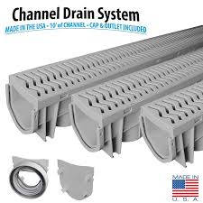 Pool Deck Drain With Removable Tops by Source 1 Drainage 3 Pack Trench U0026 Driveway Channel Drain System