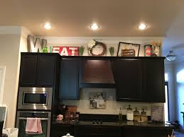 kitchen decorating above cabinets voluptuo us