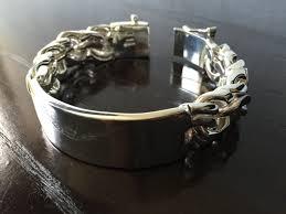 chain link bracelet sterling silver images Mens 925 sterling silver very thick and heavy chain link bracelet jpg