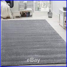 Silver Grey Rug Plain Grey Rug Glitter Silver Living Room Thick Carpet Small Extra