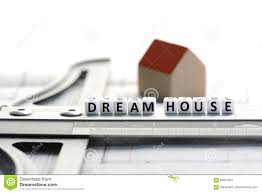 new house project with dream house text on ruler architecture