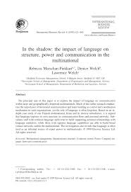 in the shadow the impact of language on structure power and