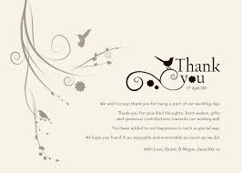 Wording For A Wedding Card Wedding Thank You Templates Free Standard Greeting Card Size