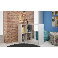 white cubby bookcase manhattan comfort 76amc6 pescara cubby desk w 4 shelves in white
