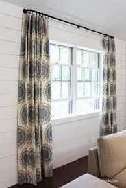 living room custom pleated drapes in robert allen dwell studio