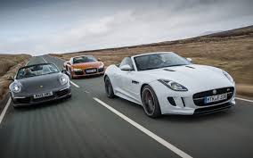porsche convertible 4 seater jaguar f type vs audi r8 vs porsche 911 automobile magazine