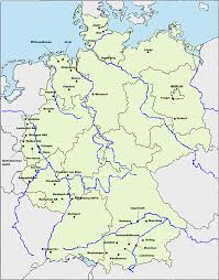 Map Of Germany Cities by German Air Force Bases Full Size