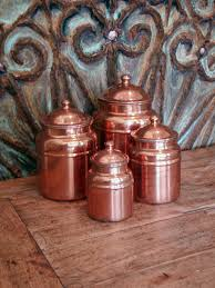 copper kitchen canister sets vintage copper canisters set of four kitchen storage vintage