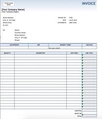 free service invoice template excel pdf word doc