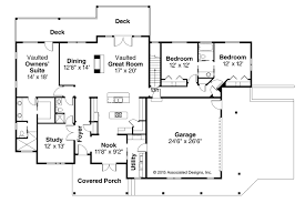 House Plans With Vaulted Great Room Country House Plans Tumalo 30 996 Associated Designs