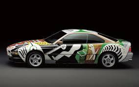 pixel art car bmw 850 csi art car by david hockney 1995 wallpapers and hd