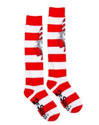dr seuss cat in the hat knee high socks u2013 spirit halloween