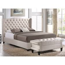 Tufted Bedroom Bench Bedroom Interesting Baxton Studio Bed Design Ideas With Tufted