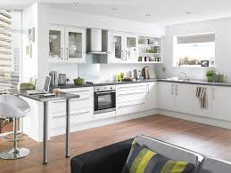 Wood Floor Kitchen by Modern White Kitchen Wood Floor Home Design Ideas