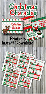 christmas charades printable pdf party game printable instant