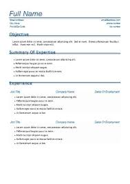 pages resume templates free resume templates for pages template one page