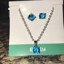 blue stone necklace earrings images Effy jewelry blue stone necklace and earrings poshmark jpg