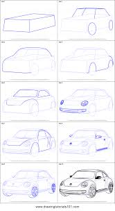 How To Draw Volkswagen Beetle Printable Step By Step Drawing Sheet