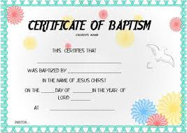 30 baptism certificate templates free samples word downloads
