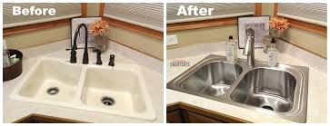 Installing Kitchen Sink Faucet Kitchen How To Install A Kitchen Sink Of Handling Large Items
