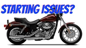 harley dyna hard to start engine starting problems youtube