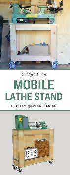 free woodworking plans build a mobile lathe stand top