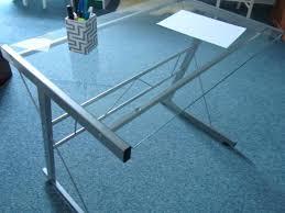 bureau verre et metal bureau angle verre et metal meetharry co