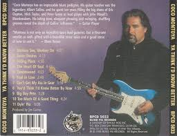 Cd Player For Blind Cd Album Coco Montoya Ya Think I U0027d Know Better Blind Pig Usa