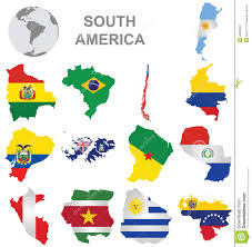 Blank Continent Map by Map Of South America With Countries And Capitals Map Of South
