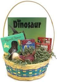 plush dinosaur basket