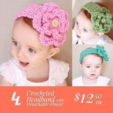 baby headband crocheted baby headband with detachable flower ladylion co