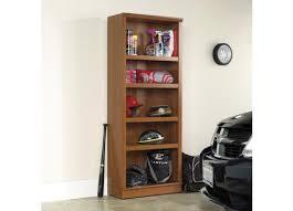sauder home plus sienna oak 5 shelf bookcase 411957