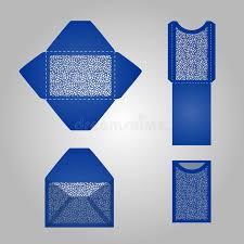 square laser cut envelope template stock illustration image