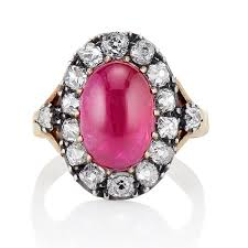 cluster rings and ruby diamond cluster ring with agl jewels by grace
