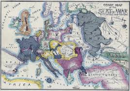 World War 1 Map Of Europe by A Collection Of Satirical Maps Of Europe Vivid Maps