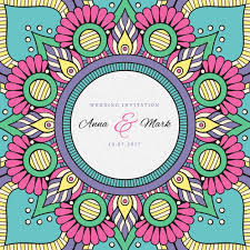 Indian Wedding Invitation Indian Wedding Invitation Vector Free Download