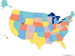 detail color map of usa with name of states royalty free cliparts