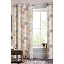Linge De Maison Curtina Fr Tringles à Rideaux Rideaux à œillets Imprimé Floral Chêtre Gris