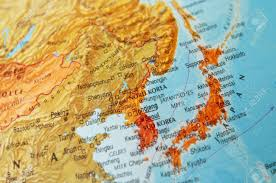 World Map Japan by Detail Of A World Map On Japan And Korea Stock Photo Picture And
