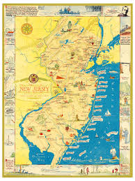 Map Of New Jersey Cities Amazing Map Of New Jersey Filled With Historical Trivia Knowol