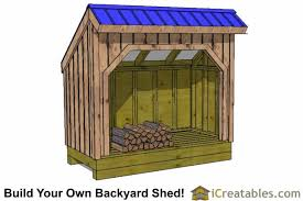 Free Firewood Storage Shed Plans by 4x8 Shed Plans 4x8 Storage Shed Plans Icreatables Com