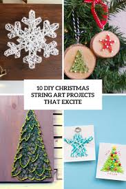 10 diy christmas string art projects that excite shelterness