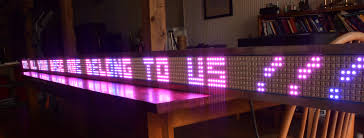 bigger is better build an arduino powered scrolling led