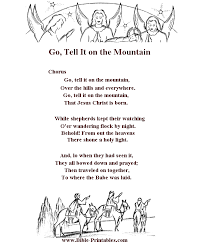 children s song lyrics go tell it on the mountain stationery