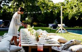 outdoor dinner party table decorations decorating of party