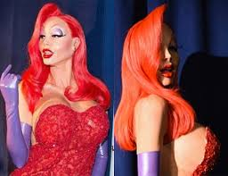 jessica rabbit heidi klum is unrecognisable as jessica rabbit for halloween smooth