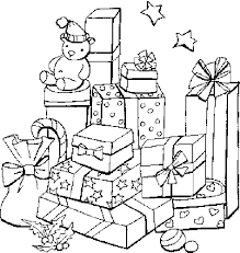 gifts coloring pages kids