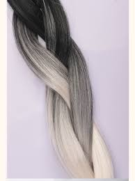 Synthetic Hair Extension by Black Grey White Ombre Jumbo Braid 4pcs Lot High Temperature