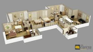 3d floor plan home office villa hotel rendering
